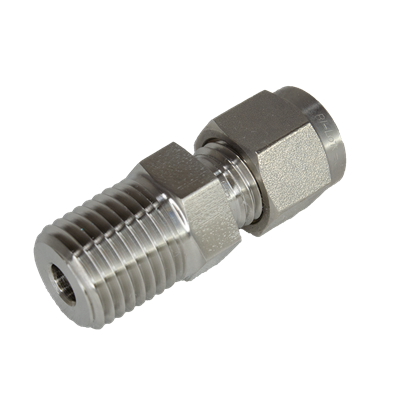 "MALE CONNECTOR 1/2""OD X 1/2""NPT"