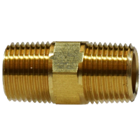 "HEX NIPPLE 1/4"" BRASS"